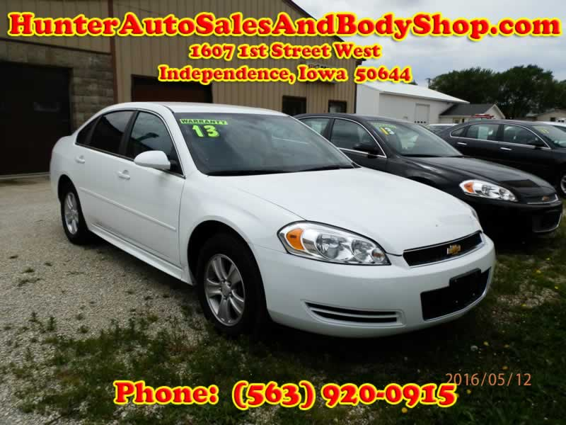 2013 Chevrolet Impala White 4 Door Car for Sale & Newer Models of Quality Used Cars for Sale - Independence Iowa