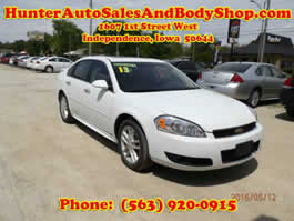 2013 Chevrolet Impala with Sun Roof White 4 Door Car for Sale