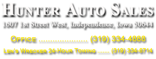 Hunter Auto Sales - Quality Used Cars and Vans for Sale in Iowa